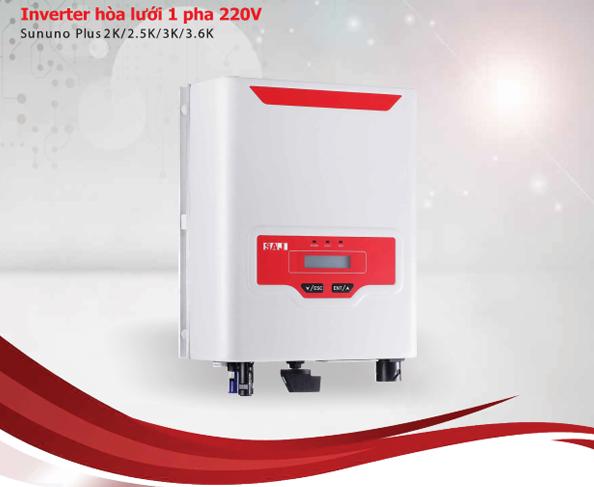 INVERTER hòa lưới 1 pha 220V (Sununo Plus 2K/2.5K/3K/3.6K)