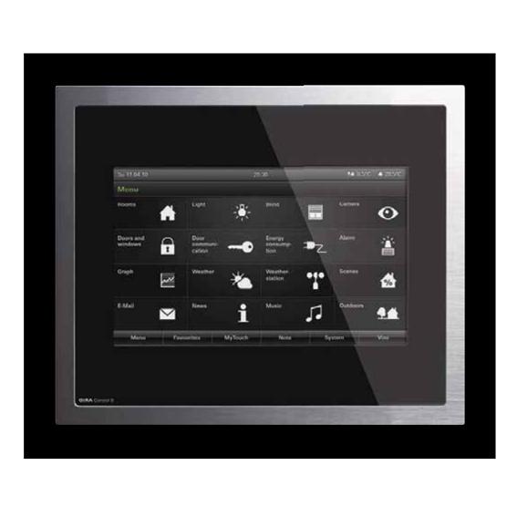 Gira Control 9 Client, glass black/aluminium