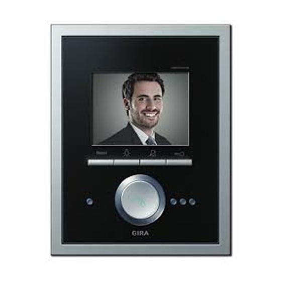Gira Video Terminal glass black/aluminium