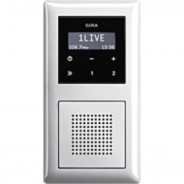 Bộ âm thanh radio gắn tường trắng bóng Gira